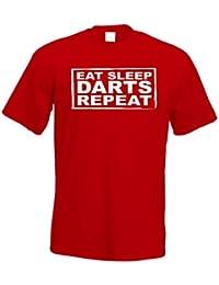 Eat Sleep Darts Repeat T Shirt Bullseye Novelty t-shirt