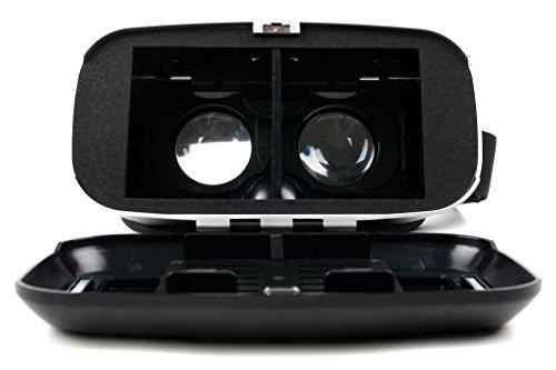 VR virtuelle Realität 3D-Brille mit magentischem Verschluß von DuraGadget kompatibel mit Ihrem Google Nexus 5X / Nexus 6P / LG V10 / LG K4 + K8 + K10 / Microsoft Lumia 950 & XL / Oppo Neo 7 + A57 Smartphone