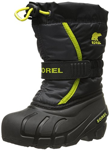 Sorel CHILDRENS FLURRY, Unisex-Kinder Warm gefütterte Schneestiefel, Rot (Red Dahlia Black-Chartreuse