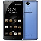 Blackview P2 Lite - 5.5 Zoll Android 7.0 4G Smartphone 3GB RAM 32GB ROM Octa Core 8.0MP + 13.0MP Kamera Fingerabdruck 6000mAh Batterie Metall Körper - Blau
