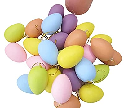 Painting Toys, SHOBDW 12PCS /Sets Random Color Easter Party Home School Decoration For Kids Children DIY Painting Egg Toys With Rope Hanging Gifts