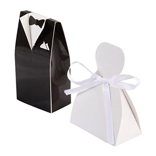 Smoking Und Kleid Hochzeit Gunsten Süßigkeiten Geschenk-Boxen