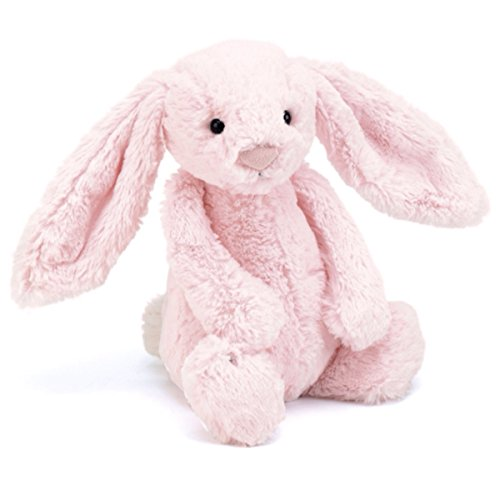 Image of Baby soft toy/comforter - medium pink bunny