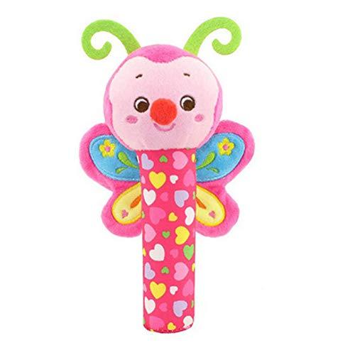 DDG EDMMS mariposa sonajero juguete de peluche juguete que cuelga cuna, cochecito de bebé coche de juguete cama de asiento, juguete del desarrollo de la actividad recién nacido, bebé que cuelga d