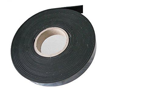 ca. 9,6 Meter x 20 x 3 mm, Vollgummi Gummistreifen Gummiprofil EPDM Hartgummi selbstklebend, schwarz - Industrieware