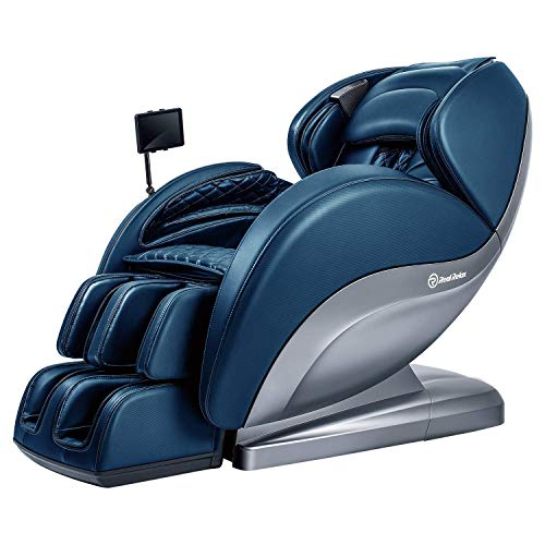 Real Relax Superior Massagesessel Ruhesessel mit Polster, Yoga-Stretch, 3D-Roboter-Handrollen, Blau