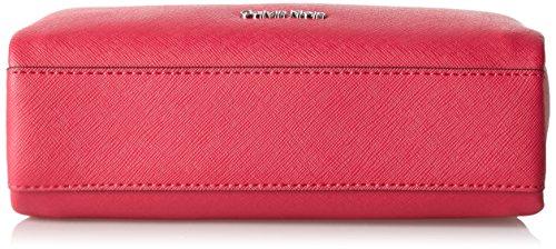 Calvin Klein Damen M4rissa Flat Crossbody Umhängetasche, 22x7x23 cm Bright Rose