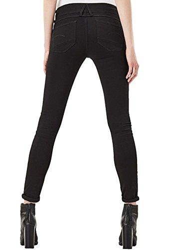 G-STAR RAW Damen Jeans Lynn D-Mid Super Skinny Wmn Black Denim