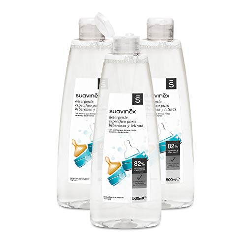Suavinex - Pack 3 detergentes 500 ml biberones tetinas