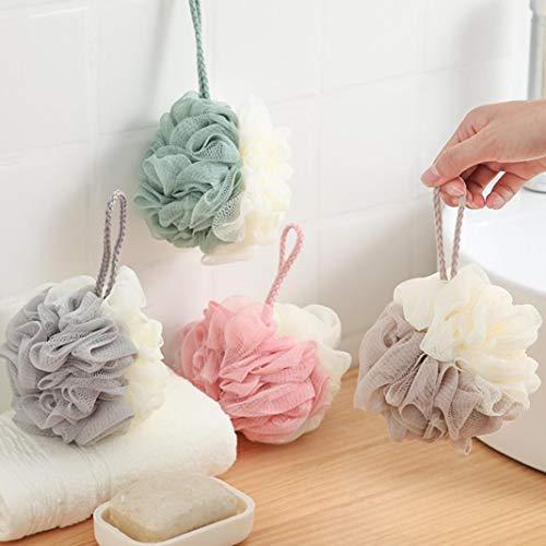 Steellwingsf Due Colori Hanging Pouf Doccia Lace Mesh Bagno Fiore Corpo Pulizia Strumento Colore Casuale