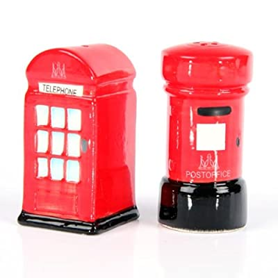 Ceramic London Salt and Pepper Set, Post and Telephone Box