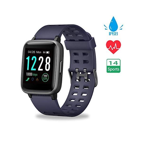 Smartwatch, Reloj Inteligente Impermeable IP68 Pulsera Actividad Hombre Mujer, Inteligente Reloj Deportivo Reloj Fitness… 1