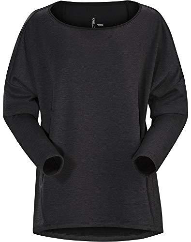 Arc'teryx Damen Nyara Boatneck Pullover Women's Trikot, schwarz (Black Heather), M - Ladies Boatneck