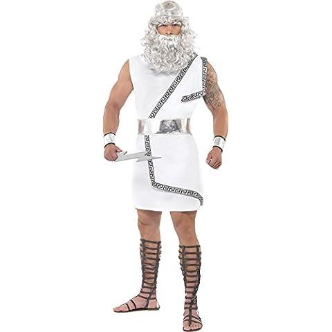 Traje Zeuskostüm para los hombres Zeus blanco blanco Herrenkostüm griegos Disfraz Disfraces Carnaval. M