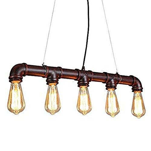 Glighone Wasserrohr Lampe Rohr Vintage Pendelleuchte Hangelampe