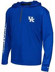 "Kentucky Wildcats Youth NCAA ""Sleet"" 1/4 Zip Pullover Hooded WindShirt Chemise"