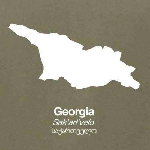 Georgia / Georgien Silhouette - Herren T-Shirt - 13 Farben Khaki