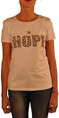 Hope1967 - T-Shirt de Mujer Daisy con estampado floral y detalles de critales , manga corta