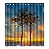 Dalliy Brauch palmen Wasserdicht Polyester Shower Curtain Duschvorhang 167cm x 183cm