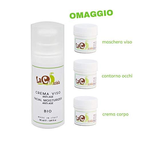 Crema viso alla bava di lumaca 100% bio antiage  con campioncini in omaggio  antirughe, idratante, anti acne   cura macchie e cicatrici   con acido ialuronico   made in italy by la chiocciola   50 ml
