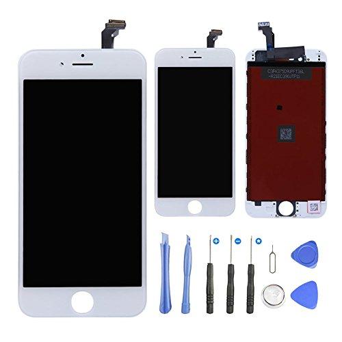 Weiß Touch Screen (LCD Display für iPhone 6, Goodshop Display für iPhone 6 Touchscreen Bildschirm Komplettset mit Werkzeuge - Reparaturset schwarz Bildschirm Glas Touchscreen Netzhaut Werkzeugset inklusiv , Qualität wie das Original (Weiß))