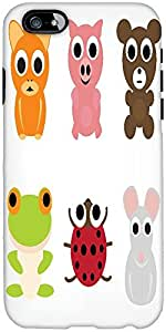 Snoogg Animal Characters Set Designer Protective Back Case Cover For Apple Ip...