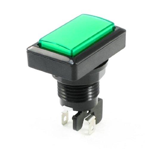 solo-verde-rettangolare-radio-shack-spst-interruttore-a-pulsante-per-gioco-in-lavatrice