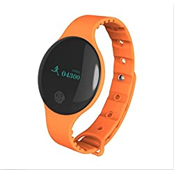 Smart Bracelet Touch Gifts Monitoraggio del Sonno Personalizzato Salute Sport Bracciale Bluetooth PedometroGAOXP (Colore : Arancia)