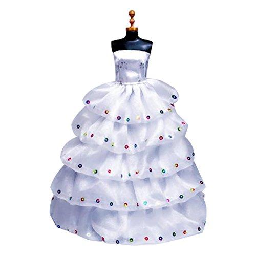 TrifyCore Kleid für Barbie-Nacht-Trikot, Modekleid, Handarbeit, 6 Schichten