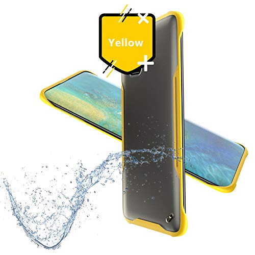 dmi Note 7 Hülle,Ultra Dünn Clear Transparente PC+TPU Handyhülle für Xiaomi Redmi Note 7(Free Ring)-Gelb ()