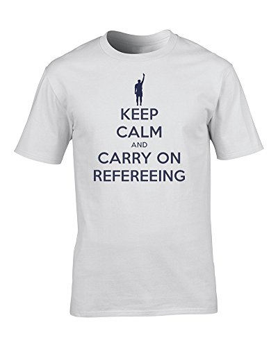 Ice-Tees Keep Calm and Carry ON Refereeing Football Referee Sports war Poster Parody Men's T-Shirt