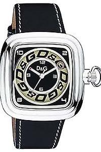 D&G Dolce&Gabbana D&G Cherokee - Reloj analógico de caballero de cuarzo con correa de piel negra de D&G Dolce&Gabbana