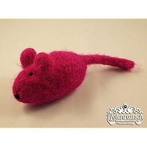 Filzmaus pink mit Baldrian – für Katzen