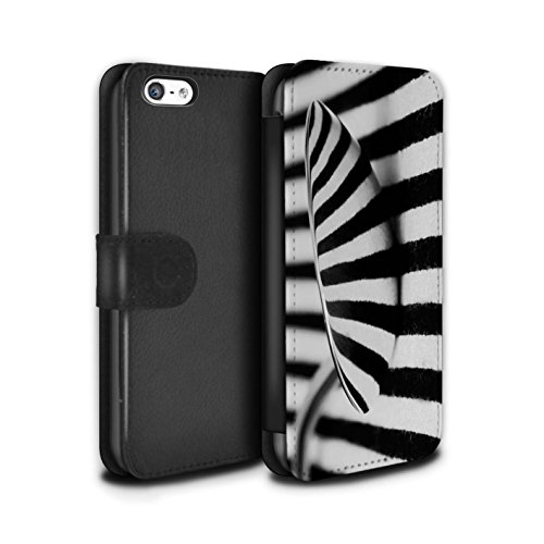 Stuff4 Coque/Etui/Housse Cuir PU Case/Cover pour Apple iPhone 5C / Tunnel Amour Design / Art Abstrait Collection Cuillère/Rayures