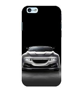 FUSON White Metalic Sports Car 3D Hard Polycarbonate Designer Back Case Cover for Apple iPhone 6 Plus :: Apple iPhone 6+