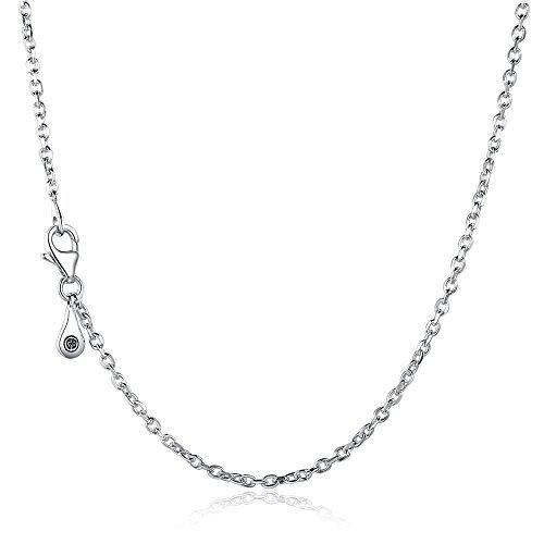�60cm 925–-925Sterling Silber Halskette von glamulet (Hausschuhe Für Mädchen Auf Verkauf)