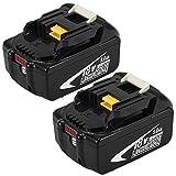 2X BL1850B 18V 5.0Ah Litio Sostituzione Batteria per Makita 18V BL1850 BL1860B BL1860 BL1840 BL1845 BL1835 BL1830 BL1815 LXT-400 con indicatore