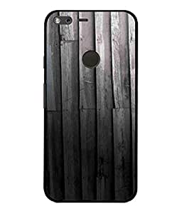 MiiCreations UV/2D Printed Back Cover for Google Pixel XL - Black Wood Pattern
