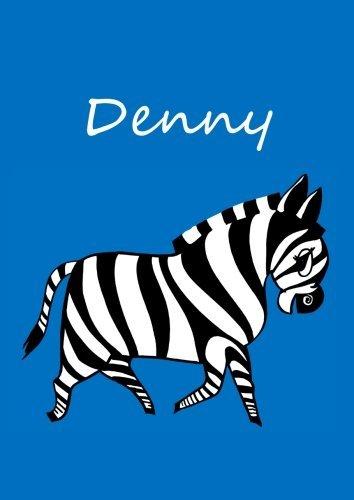 denny-individualisiertes-malbuch-notizbuch-tagebuch-zebra-a4-blanko