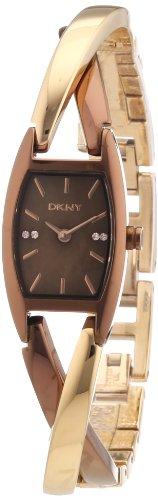 DKNY Crossover 3 Hand NY8439 - Reloj analógico de cuarzo para mujer, correa de acero inoxidable chapado multicolor