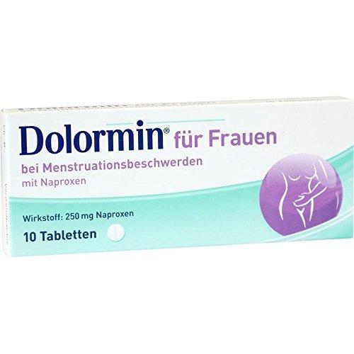 Dolormin für Frauen Tabletten bei Menstruationsbeschwerden, 10 St. Tabletten