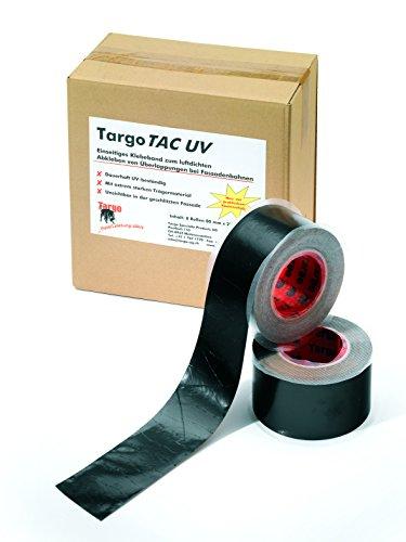 Targo Tac UV Klebeband schwarz UV beständig Breite 6 cm Rolle 25 m