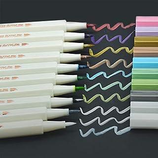 Metallic Marker Stift Aquarell Stift Kalligraphie Filzstift Aojia 10 Farbe für Fotoalbum Sammelalbum Kartenherstellung Kunstmalerei Färbung Zeichnung Design
