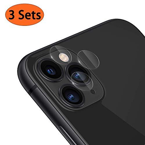 RHESHINE iPhone 11 Pro/iPhone 11 Pro Max Verre Trempé Caméra Arrière Protecteur, [3 Sets] Caméra Protecteur D'écran Film pour iPhone 11 Pro/iPhone 11 Pro Max (2019), [9H dureté,Coque Compatible]