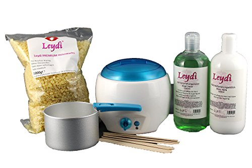 Leydi Heisswaxset Premium Honig - Brazilian Waxing Set mit Waxgerät und Zubehör