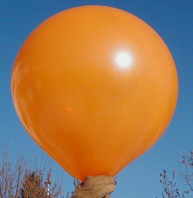 Preisvergleich Produktbild Riesenluftballon von Ballonpoint -2 Stück Riesenballons Typ R150 -108-00 Ø50cm /20inch, Umfang 150cm unbedruckt, Ballonfarbe ORANGE, XXL Riesenluftballon / Jumboballoon Typ R150 -108-00 inkl. Spezialballonverschluss (Klammer ZRBV6). Hergestellt in Österreich