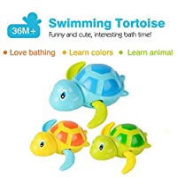BABYCHOICE Baby Bath Swimming Bath Pool Toy Cute Wind Up Turtle Animal Bath Toys Set Nice Gift Idea for Kids