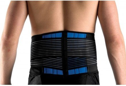 FitMad® Adjustable Neoprene Double Pull Lumbar Support Lower Back Belt Brace - Back Pain / Slipped Disc Pain Relief (S, M, L, XL & XXL) (Large (Wrap Double Belt)
