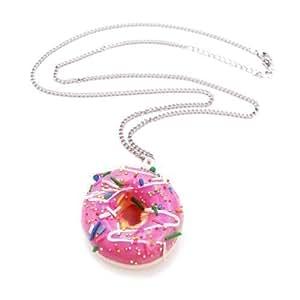 Donut mit Zuckerguss Glasur Halskette - ca. 70cm lange