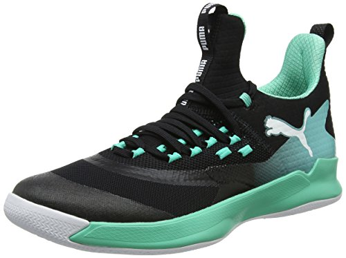 Puma Unisex-Erwachsene Rise XT Fuse 2 Multisport Indoor Schuhe, Schwarz Black-Biscay Green White, 39 EU (Tennis-schuhe Weiß-schule)